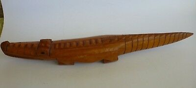South Pacific Crocodile Small Wood Carved Artefact Animal Sculpture