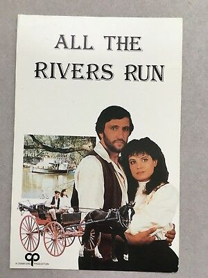 AUSTRALIAN TV FAN CARD ALL THE RIVERS RUN SIGRID THORNTON JOHN WATERS 9x15cm