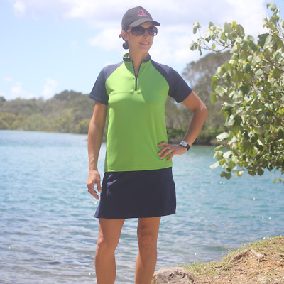 BNWT, Green & Navy Golf Top, FREE SHIPPING!