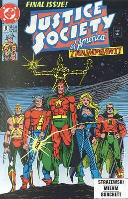Justice Society of America (1st Series) #8 1991 VG Stock Image Low Grade