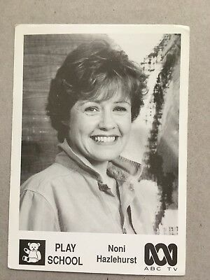 Australian Tv Fan Card Play School Noni Hazlehurst