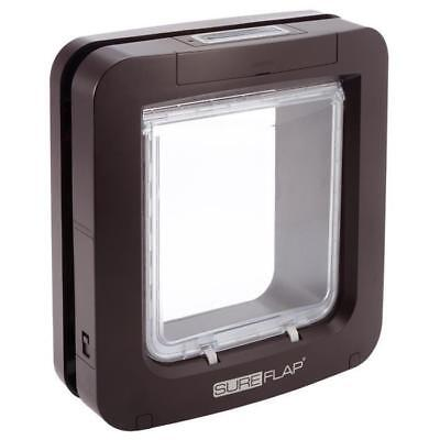 SUREFLAP Grande chatiere a puce electronique marron