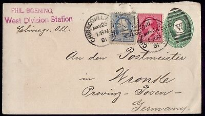 USA GERMANY Franked Chicago 23/5/91 To Wronke Posen   VF Cover