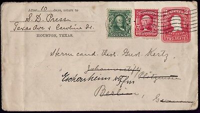 USA GERMANY Franked Houston Texas 1906 To Berlin. VF Cover