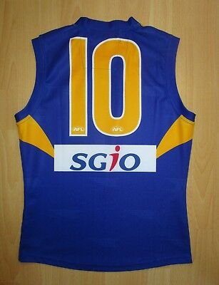 Scott Selwood Player Issue West Coast Eagles Guernsey Jumper Jersey Un Signed