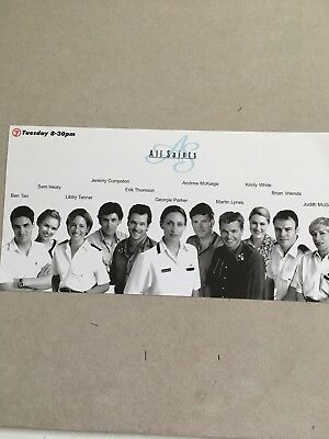 AUSTRALIAN TV FAN CARD ALL SAINTS CAST SHOT 23x15cm
