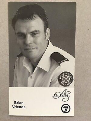 AUSTRALIAN TV FAN CARD ALL SAINTS BRIAN VRIENDS 10x18cm