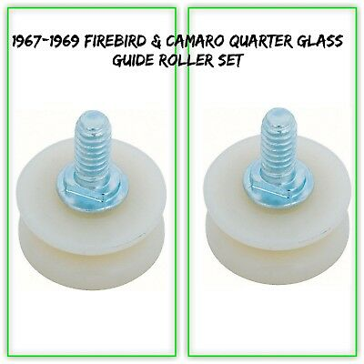 OER 7794097-2 1968-69 Pontiac Firebird Chevy Camaro Quarter Glass Guide Rollers