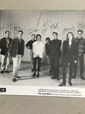 AUSTRALIAN TV FAN CARD.  THE LATE SHOW  CAST SHOT  20x21cm