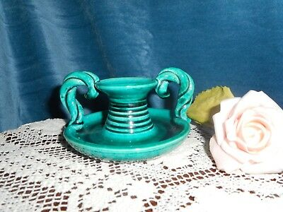 Vintage antique hand made pottery candle holder
