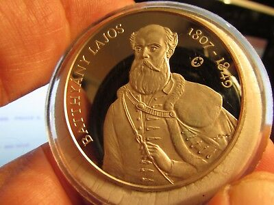 Hungary - 5000 Forint 2007 ~Artist Batthyány, .925 Silver Proof, 31.5 G.: XXRARE