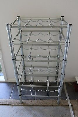 24 Bottle Wine Rack Metal
