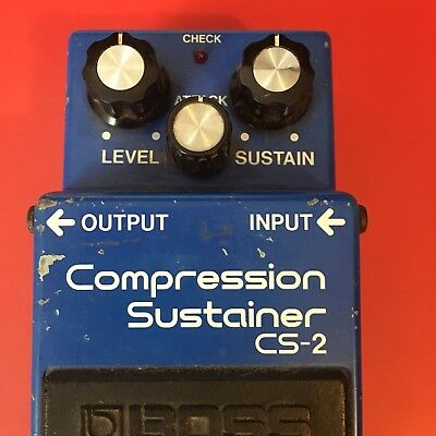 Boss CS-2 Compression Sustainer Made in Japan Perfect Working Condition CS2 Comp