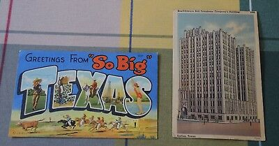 """GREETINGS FROM """"SO BIG"""" TEXAS + SOUTHWESTERN BELL TELEPHONE Co BUILDING #46"""