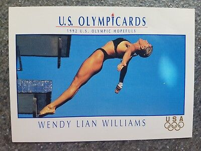US Olymp Cards Wendy Lucero-Schayes OS 1992 Nr.37 Trading Card