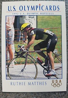 US Olymp Cards ruthie Matthes OS 1992 Nr. 33 Trading Card