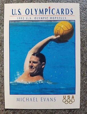 US Olymp Cards Michael Evans OS 1992 Nr. 97 Trading Card