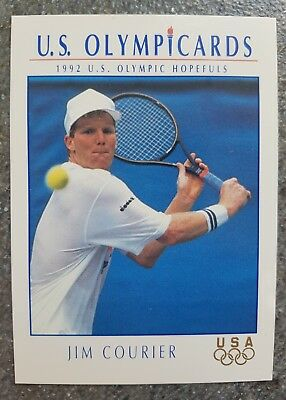 US Olymp Cards Jim Courier OS 1992 Nr. 82 Trading Card