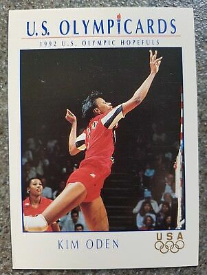 US Olymp Cards Kim Oden OS 1992 Nr. 94 Trading Card
