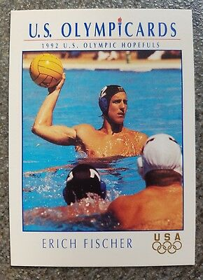 US Olymp Cards Erich Fischer OS 1992 Nr. 98 Trading Card