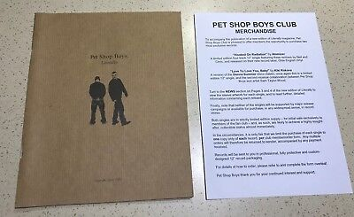 Pet Shop Boys, Literally Issue 26 Rare Fan Club Magazine - April 2003
