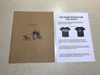 Pet Shop Boys, Literally Issue 21 Rare Fan Club Magazine - October 1999