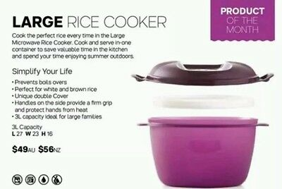 Tupperware 3L Microwave Rice Cooker Brand New