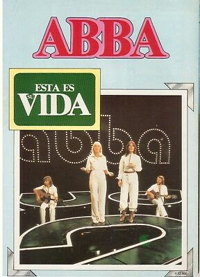 ABBA RARE SPANISH MAGAZINE ESTA ES SU VIDA with big poster 1981 M-