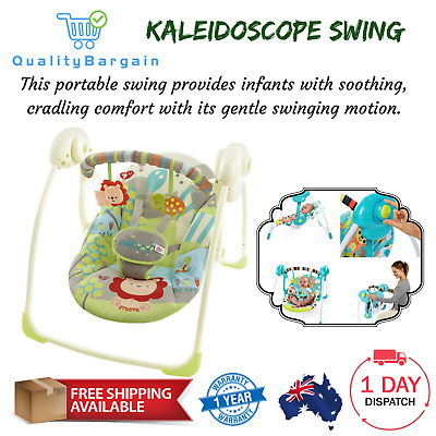 Kaleidoscope Swing Portable Infant Baby Seat 5-Point Harness with Toy Non-Slip
