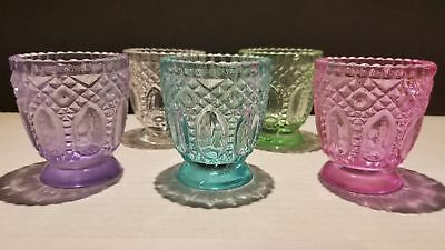 Vintage Antique style votive candle holder - Pink, Blue, Green, Purple, or Clear