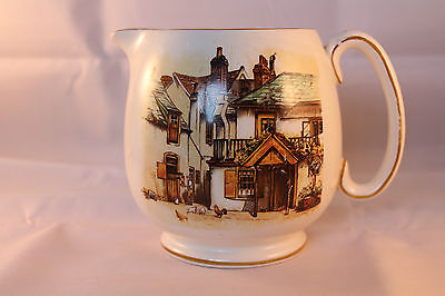Lancaster & Sons Pottery Water Sauce Jug Four Ways Inn Large Rare Retro Vintage