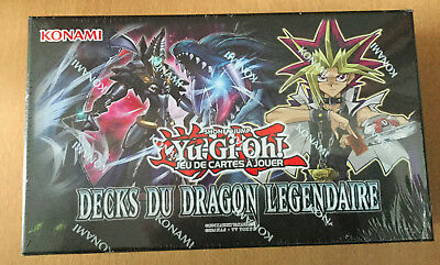 CARTE yugioh DISPLAY NEUF ET SCELLÉE yu-gi-oh decks du dragon legendaire DECK