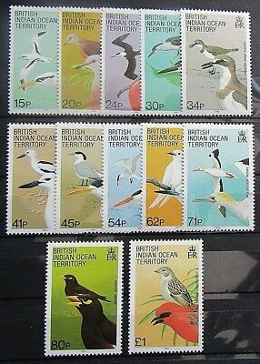 B.i.o.t - 1990 Birds Definitive Set Of 12 - Sg.90/107 - Fine Mnh
