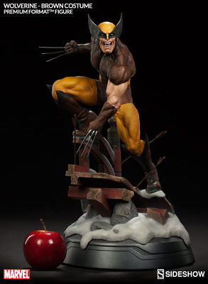 Sideshow Wolverine Brown Costume premium format statue NEW SEALED not Hot Toys