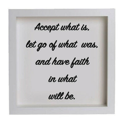 Ikea Ribba Box Frame Spiritual Quote 011 Accept What Is Let Go Of