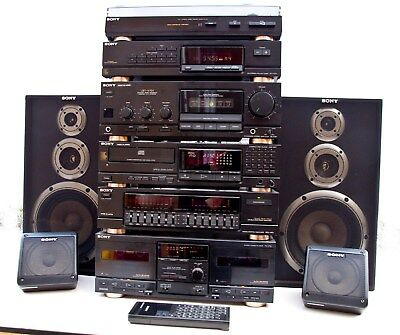 Sony Hi Fi music system with Surround Sound speakers
