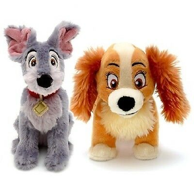 OFFICIAL DISNEY LADY and THE TRAMP SOFT PLUSH TOY SET BUNDLE
