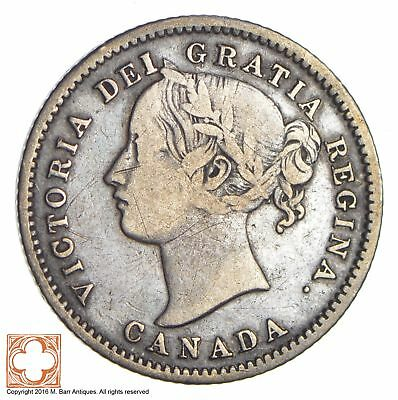 1858 Canada 10 Cents *7032