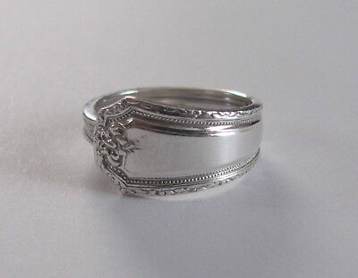 Sterling Silver Spoon Ring - Towle / Louis XIV - size 8 (7 1/2 to 9) - 1924