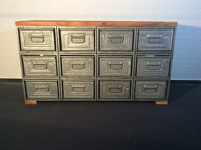 ANTIKE LOFT INDUSTRIE Design Metall TV Kommode Sideboard Anrichte ...