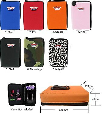 Bulls Large Darts Case / Wallet - Holds 2 Sets Fully Loaded - Choice of Colours