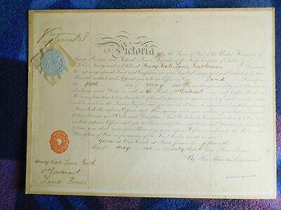 Queen Victoria, excellent signed document