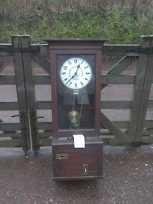 Antique The Gledhill Brook Time Recorders Ltd Clocking in Clock