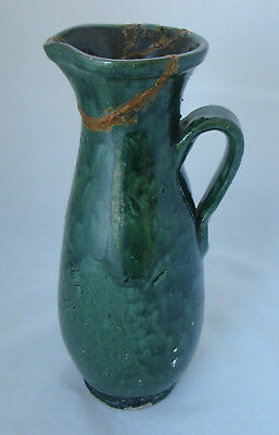 Antique Rare Large Ewenny Pottery Jug. C.1900. A/F