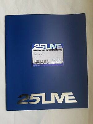 """George Michael """"25 Live"""" Tour Program *With Tickets*"""