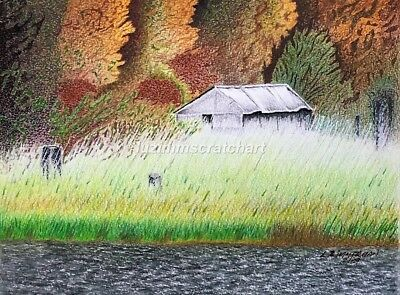 "$25.00 OFF - Old Shed by Swan River Bigfork MT ORIGINAL 9""x12"" by LVZimm"