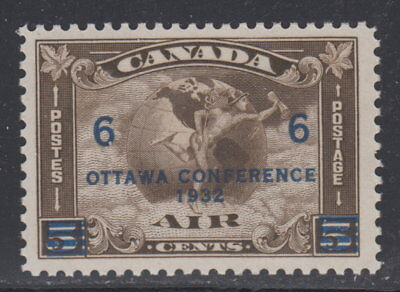 Canada #C4 6¢ On 5¢ Surcharged Ottawa Conference Airmail Mint Never Hinged - G