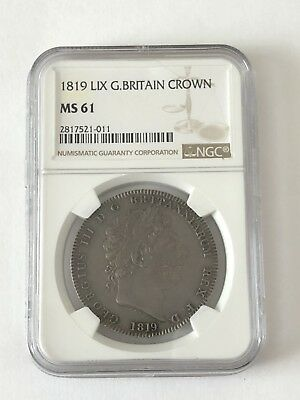 1819 LIX Silver Crown NGC MS61