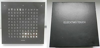 Qlocktwo Touch electric clock. Working and accurate.