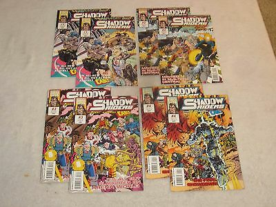 Shadow Riders 1-4 Marvel Uk!!! Guest Starring Cable!!! 2 Complete Sets